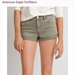 American Eagle Outfitters Olive Green Shorts Denim